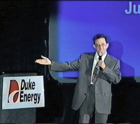 Entertaining 2800 people at an energy convention 1994