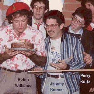 With Robin Williams in 1984